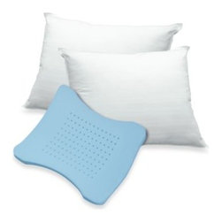 Therapedic - Therapedic Memory Loft Classic Pillow - Sweet, restful slumber can be even more comfortable with a Thera Foam Molded Memory Foam pillow. The ventilation holes in the hour-glass shape insert offer cooling relief while you rest.