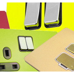 Coloured Switches, Dimmers and Sockets in any RAL colour exclusively from Decswi