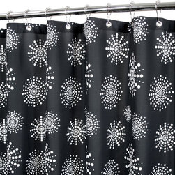 Watershed - Watershed Stardust Shower Curtain Multicolor - STDU40-B/W - Shop for Shower Curtains from Hayneedle.com! A bold black and white design makes the Park B Smith Stardust Shower Curtain an instant upgrade for your guest bath. This shower curtain is made of fast-drying polyester fabric that is machine-washable requires no liner and resists mold and allergies. Grommets at the top offer quick hanging and weights at the bottom keep it in place.