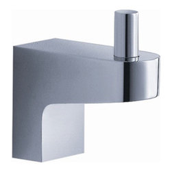 "Fresca - Fresca Generoso Robe Hook - Chrome - Dimensions:  1""W x 2""D x 2""H. Heavy Duty Brass with Triple Chrome Finish.   All of our Fresca bathroom accessories are made with brass with a triple chrome finish and have been chosen to compliment our other line of products including our vanities, faucets, shower panels and toilets.  They are imported and selected for their modern, cutting edge designs."