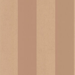 Kenneth James - Shimmer Stripe Copper Stripe Wallpaper - A simple, wide stripe is sometimes all you need. This wallpaper's warm copper stripes will create a look that stands the test of time, whether in your bathroom, bedroom or parlor.