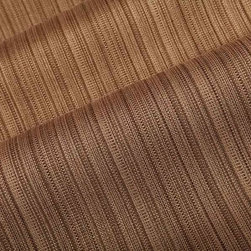 Jackson Stripe Upholstery Fabric in Walnut Brown - Jackson Stripe Upholstery Fabric in Walnut Brown has a small-scale stripe with a slightly nubby texture in a neutral brown. Ideal for upholstery or pillows, this beautiful cotton blend has a dimensional look, but doesn't distract from other aspects of an interior design. Made from 55% cotton and 45% polyester this fabric passes 21,000 double rubs on the Wyzenbeek Abrasion Test. Cleaning Code: S; UFAC: Class I; passes CA117 Test. Width: 57″