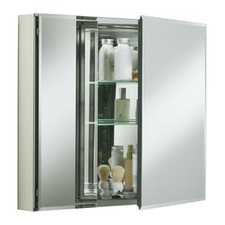 "KOHLER - KOHLER K-CB-CLC3026FS Aluminum Two-Door Medicine Cabinet with Square Mirrored Do - KOHLER K-CB-CLC3026FS 30""W x 26""H x 5""D Aluminum Two-Door Medicine Cabinet with Square Mirrored Doors"