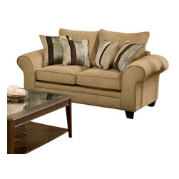 Chelsea Home Furniture - Chelsea Home Clearlake Loveseat in Waverly Suede - Kendu Onyx Pillows - Clearlake loveseat in Waverly Suede - Kendu Onyx Pillows belongs to the Chelsea Home Furniture collection