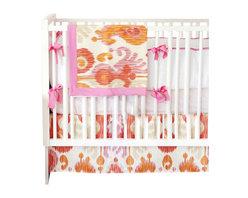 Urban Ikat In Fuschia Crib Baby Bedding Set 3 Piece Set - Urban Ikat in Fuschia Crib Baby Bedding Set 2 piece