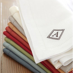 PB Classic Linen Dinner Napkin - My mother-in-law always insists that I use linen napkins when entertaining. I think she's right. The linen adds a sense of importance to any meal. And did you notice? These can be monogrammed.