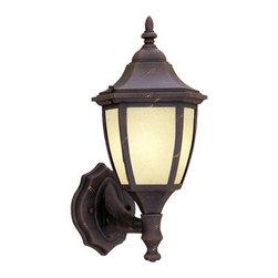 "Designer Fountain - Builder Cast Aluminum-ES 7"" Wall Lantern - 7 inches wall lantern (CFL)"