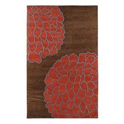 Surya Rugs - Artist Studio Brown / Sky Contemporary Rug - ART206-58 - Construction: Handmade