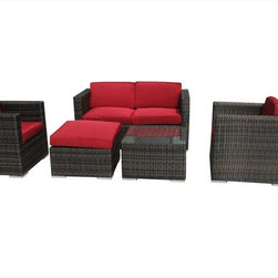 Kontiki - Kontiki Conversation Sets - Wicker Sofa Sets - [1.0 set/set]     Creating a laid-back and supremely comfortable outdoor living space is easily within sight with the St. Lucia Collection of patio furniture on the Kontiki label.   Perhaps you're looking to create a casual space to serve as a focal point. Maybe you're interested in a larger scale entertaining space. Or, maybe you'd like to enjoy more family meals outdoors this summer. Whatever scenario you're looking at, even if it's a combination of all of those, you can build your outdoor furnishings to suit your ideals starting with this selection of premium patio furniture pieces.  Easy to integrate, easy to clean patio furniture  The St. Lucia Collection presents options to help ignite your imagination as to what your outdoor space can mean to you. And it can help to tie your outdoor space to the interiors that you've created, too. This is a true 21st century approach to defining stylish spaces in the modern outdoor space. With simple yet effective lines and textures, your outdoor space becomes a place for large gatherings, family meals, and a quiet place of contemplation all at once. It's easy to integrate selections found in this collection into any outdoor living context.  And because this collection is created using tough, resilient materials as well as looking great, you'll spend more time relaxing in your outdoor space, and less time making sure that your patio furniture is looking as great as it did when you first set it up. Warm water and a soft cloth is all it takes. Otherwise, sipping cold drinks, eating summer meals with family and friends, and generally feeling relaxed are the only items on the agenda.   High-quality outdoor furniture at best prices  Time spent in your outdoor living space should be about creating great memories to celebrate with friends and family. We at BuildDirect under