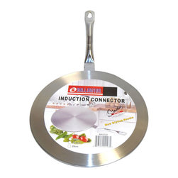 None - Induction Cooktop Converter 11-inch Interface Disc - Interface converter disk enables non-induction cookware to be used on induction surfaces. It is designed for use with any portable or built-in induction cook top.