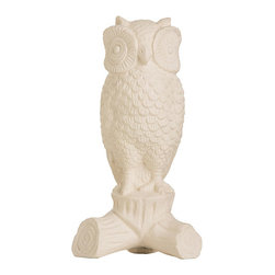 """Arteriors - Arteriors Home - Athena Sculpture - DD7011 - This matte white finish owl sculpture adds a bit a whimsy to your d cor. It is based on a pair of originals that traveled to college with Barry. They were a gift from his grandmother and are still a favorite today. Features: Athena Collection Sculpture Matte White Porcelain Some Assembly Required. Dimensions: H: 8.5"""" x W: 4.5"""" x D: 3.5"""""""