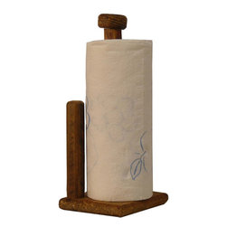The Rusted Nail LLC - Paper Towel Holder - It's not just a towel holder — it's a piece of American history. This handsome rustic piece is crafted out of wood, salvaged from old barns in rural Georgia to add the perfect rustic touch to your casual kitchen.