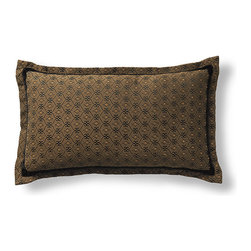 Frontgate - Milano Bolster Pillow - Bolster is 67% rayon/32% cotton/1% nylon. Dry clean. Made in the USA of imported fabrics. Imagine waking up in an Italian inn during the autumnal harvest and you will experience the essence of the Milano Bedding Ensemble. Decorative pillows feature lavish piecings and trimmings. . . .