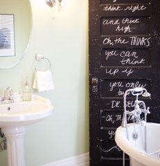 eclectic bathroom by Birdhouse Interior Design