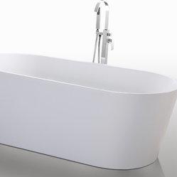 Helixbath Agora Freestanding Acrylic Soaking Bathtub 67