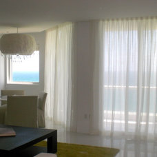 Contemporary Curtains by CCB DESIGN INC