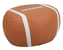 Flash Furniture - Flash Furniture Kids Football Stool - Kids will now get to enjoy furniture designed specifically for their size! This sports inspired stool will have your child's room stand out. This backless seat can be used around the house. The vinyl upholstery ensures easy cleaning after accidents or for quick wipe offs.