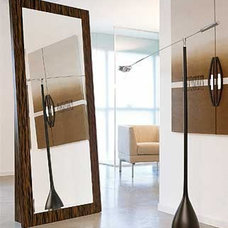 Modern Makeup Mirrors Webb Vertical Stand Alone Mirror by Doimo