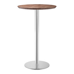 ZUO MODERN - Bergen Bar Table Walnut - Bergen Bar Table Walnut