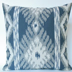 Blue Kravet Ikat Pillow - The Pillow Studio