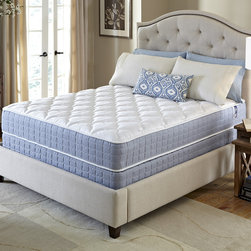 Serta - Serta Revival Firm Cal King-size Mattress and Foundation Set - Experience blissful sleep with the comfort and support your body needs with this Firm mattress and foundation from Serta. This mattress is designed to offer the quality you expect from the Serta brand at an exceptional value.