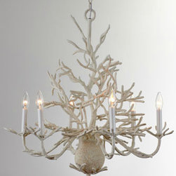 """Coral"" Chandelier - This coral chandelier is perfect in any space, even the laundry room!"