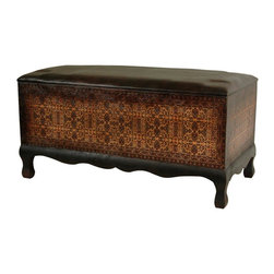 "Oriental Furniture - Olde-Worlde Euro Baroque Bench - A lovely decorative accent, as well as a very versatile, practical piece of high quality furniture. It's a great bench for extra seating in the living room, family room, entry way, or at the foot of the bed. Also, it can be used as comfortable and attractive coffee table style ottoman in front of a sofa or love seat. Modern American interior design recognizes the extent to which coffee tables pull double duty as foot rests. Note that this beautiful bench, at 16"" tall, works well for that purpose. As a bench, an ottoman, or as a coffee table, this is an attractive piece of furniture and an excellent home decor value."