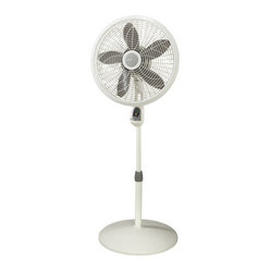 "Lasko Products - 18"" Pedestal Fan w Remote - 18"" Remote Control Elegance & Performance Pedestal Fan with Silver Accents; Multi-function remote control;  Powerfully cools the largest home spaces; Elegant grill design blends into surrounding decor; Easy-to-use timer;  Oscillation and adjustable t"