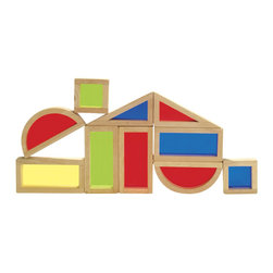 Guidecraft - Guidecraft Hardwood Rainbow Blocks Set - 10 Pieces - Guidecraft - Wooden Play Sets - G3015 - Oppenheim Toy Portfolio Gold Seal Award. An adventure in color light and sound! Indulge your child's appetite for exploration by combining blocks to form new colors and sounds or stack the blocks in a different order each time to form new and exciting shapes.