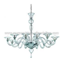Doge 12 lights Murano glass chandelier - Crystal clear Murano glass chandelier.