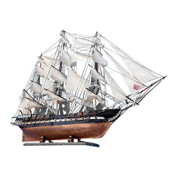 Handcrafted Model Ships - Wall Display Shelf Wooden Wall Display Shelf Wood Display Shelf Beach Living - Features: