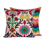 """Chloe and Olive - Colorful Mexican Throw Pillows, 20x20"""" - Your pillows will be the center of attention at your next party with this caliente collection from Chloe & Olive."""