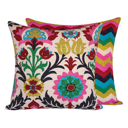 "Chloe and Olive - Colorful Mexican Throw Pillows, 20x20"" - Your pillows will be the center of attention at your next party with this caliente collection from Chloe & Olive."