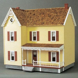 Real Good Toys Front-Opening Green Acres Dollhouse Kit - 1 Inch Scale - Enjoy quaint farmhouse charm with the Real Good Toys Front-Opening Green Acres Dollhouse Kit. This adorable farmhouse features a spacious front porch, charming gingerbread trim, a staircase with uncompromised detail, an attic window, movable room dividers, wooden roof shingles, pre-assembled windows and doors, and a milled back panel.Recommended assembly supplies:HammerFine-toothed sawScrewdriverGluesUtility knifeMasking tapeSandpaper: 100 and 320 gritPaintsPaint brushesRuler3/4-inch or 1-inch bradsStep-by-step instructions with detailed drawings are included. Shutters, paint, glue, curtains and any landscaping or furnishings are not included.Overall dimensions include items that protrude, such as roof cresting. This item is not recommended for children under 3 years.About Real Good ToysBased in Barre, Vt., Real Good Toys has been handcrafting miniature homes since 1973. By designing and engineering the world's best and easiest-to-assemble miniature homes, Real Good Toys makes dreams come true. Their commitment to exceptional detail, the highest level of quality, and ease of assembly make them one of the most recommended names in dollhouses. Real Good dollhouses make priceless gifts to pass on to your children and your children's children for years to come.