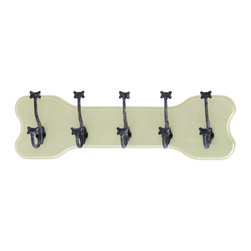 Benzara - Mankind's Best Friend Wall With Dog Bone Hooks - Man's best friend deserves a spot on the wall in any loving pet owner's home. These dog bone themed wall hooks feature 5 double ended hooks for your coat, hat, umbrella and more, while constantly reminding you of man's best friend. And don't forget to hang the most important thing on these hooks: the dog leash.
