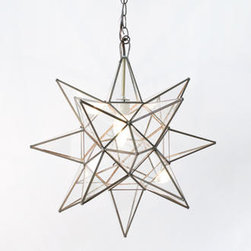 Star Pendant Chandelier - I love this pendant — it's interesting and fun.