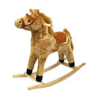 Trademark Global - Western Style Plush Rocking Horse w Wood Fram - Recommended for ages 2 yrs. old & up. Recommended Weight Limit: 80 lbs.. Soft and plush to the touch. Hand crafted with a hard wood core and stands on sturdy wood rockers. 11 in. L x 28.50 in. W x 26 in. H (7 lbs.)This handsome rocking horse is sure to be your little cowboy's favorite. This beautiful piece will surely be a focal point in any little boy's room.