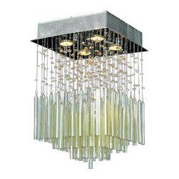 "Worldwide Lighting - Worldwide Lighting W33261C12-GT Torrent 4 Light 16"" Flush Mount Ceiling Fixture - Specifications:"