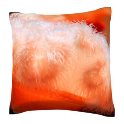 Custom Photo Factory - Orange Anemone (Orange Cereactis)- Polyester Throw Pillow - Orange Anemone (Orange Cereactis) Made in Los Angeles, CA, Set includes: One (1) pillow. Pattern: Full color dye sublimation art print. Cover closure: Concealed zipper. Cover materials: 100-percent polyester velour. Fill materials: Non-allergenic 100-percent polyester. Pillow shape: Square. Dimensions: 18.45 inches wide x 18.45 inches long. Care instructions: Machine washable