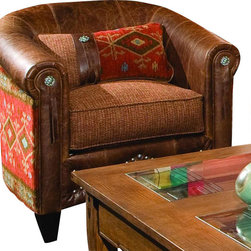 Chelsea Home Furniture - Chelsea Home Daltry Chair in Stagecoach Redwood - Black Canyon Earth - Daltry chair in Stagecoach Redwood - black Canyon Earth belongs to the Chelsea Home Furniture collection
