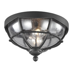 Murray Feiss - Murray Feiss River North Transitional Flush Mount Ceiling Light X-BXT2189LO - Inspired by the silhouette of a gazebo, the River North Collection balances the soft lines featured in the dome, the scallop detail and the finial with the angular panes of glass around the perimeter. The seeded glass adds visual interest.