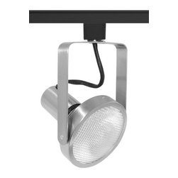 Juno Lighting - Trac-Master T368 PAR38 Open Back Gimbal Track Light, T368sc - The clean, functional lines of the open back allows maximum adjustability. Open Back Spotlights relamp from back and have floating socket mount and on/off switch. The minimum profile with stylized yoke design is ideal for retail and commercial applications.