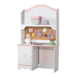 Standard Furniture - Standard Furniture Sweet Dreams 47 Inch Student Desk in White and  Pink - Sweet Dreams, by Frisco Manufacturing, Features a traditional look, inspired by fairy tales every princess dreams of. Quality wood products bonded together creates durable construction throughout. Products may contain some plastic parts. French dovetail construction throughout enhances durability. Roller side drawer guides provide ease and convenience. Coordinated pink color knobs. Floral d.
