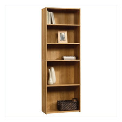 Sauder - Sauder Beginnings 5-Shelf Bookcase in Highland Oak - Sauder - Bookcases - 413324