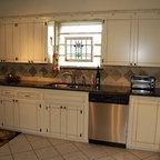 New Cabinets, Granite and Custom Designed Backsplash -