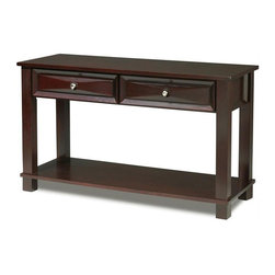 Steve Silver Company - Steve Silver Company Mason Sofa Table - Steve Silver Company - Console Tables - MS400S - The Mason Sofa Table's dark cherry finish and classic design merges seamlessly into any living room. The cocktail sofa and end table give you a full living room occasional table solution for your home.