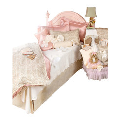 Glenna Jean - Love Letters Children's Bedding Set Twin (3 Pc.) - The Love Letters Children's Bedding Set is a gorgeous designer bedding set that will look great in any girl's room.