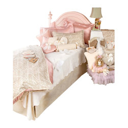 Glenna Jean - Love Letters Children's Bedding Set Twin (3-Piece) - The Love Letters Children's Bedding Set is a gorgeous designer bedding set that will look great in any girl's room.