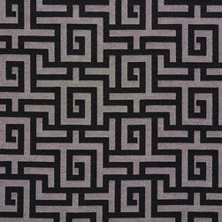 Black And Silver Shiny Geometric Faux Silk Upholstery Fabric By The Yard - This upholstery fabric feels and looks like silk, but is more durable and easier to maintain. This fabric will look great when used for upholstery, window treatments or bedding. This material is sure to standout in any space!