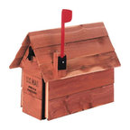 SOLAR GROUP - Mailbox Cedar Chalet Cedar - Standard size galvanized steel mailboxes housed in aromatic red cedar. Plastic flag kit is included. The wood weathers naturally over time, unless treated occasionally with a standard wood or deck sealer.